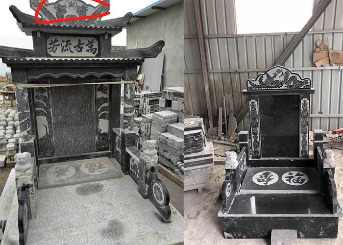 沂蒙黑墓碑雕刻