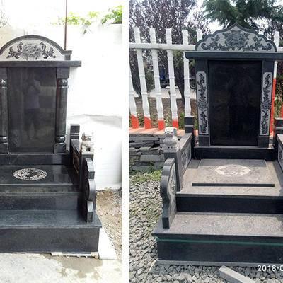 沂蒙黑墓碑公墓成品