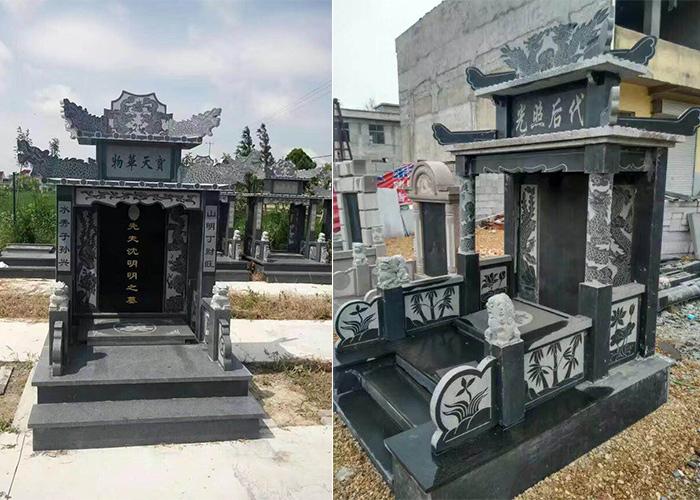 专业沂蒙黑墓碑石材