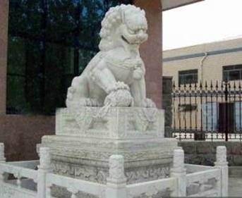 四川汉白玉狮子