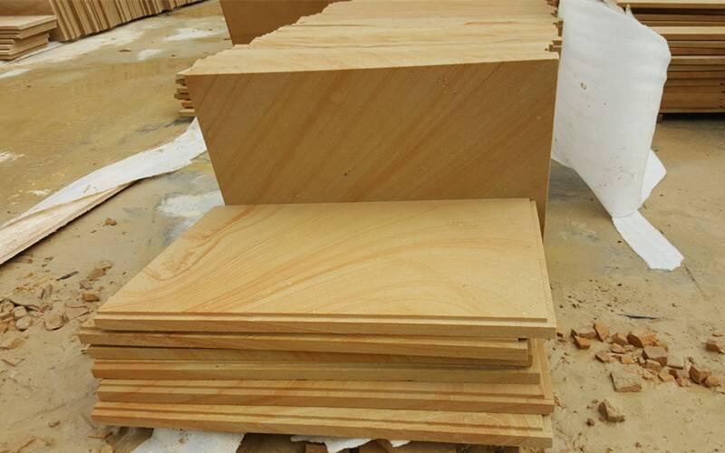 黄木纹砂岩成品板材
