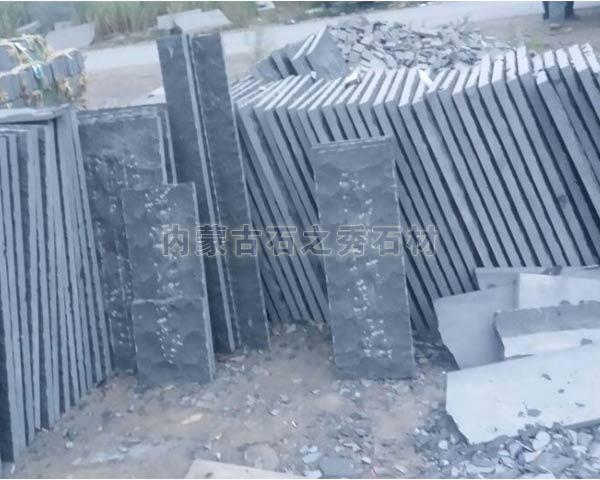 蒙古黑自然面条石