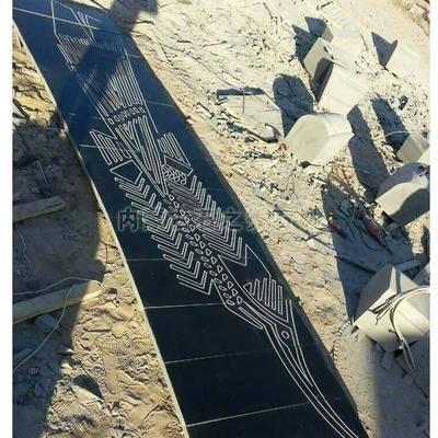 蒙古黑雕刻拼花