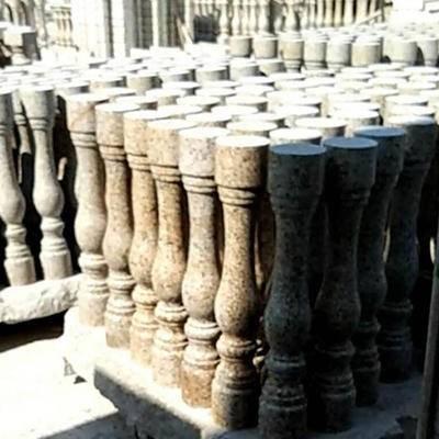 山东锈石扶手柱子