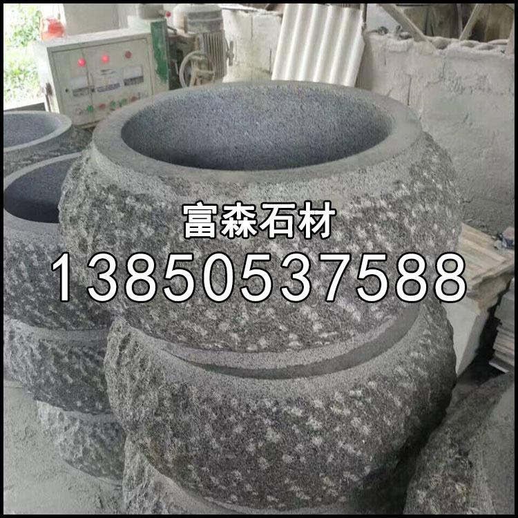 654石材菠萝面柱子头
