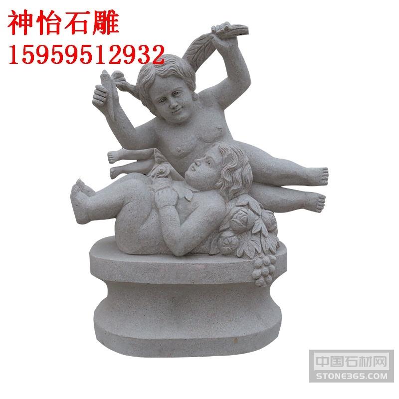 石雕西方欧美小孩人物雕塑雕刻