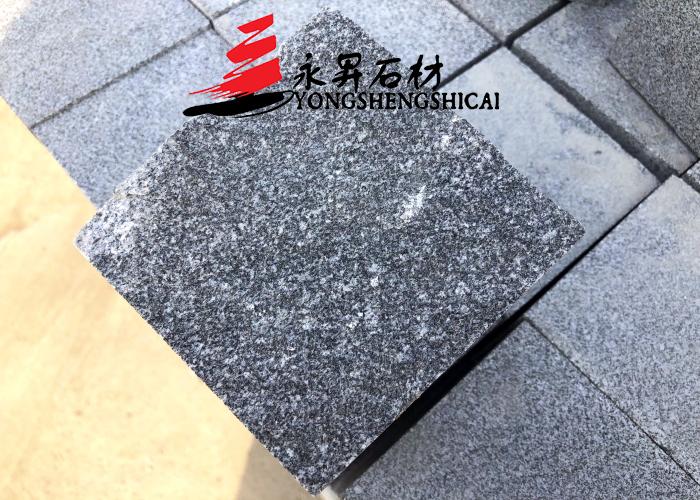 泌阳芝麻黑G654马蹄石小方块