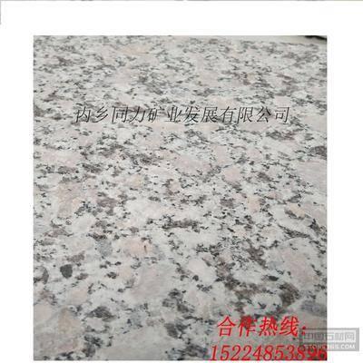 梨花红麻面地铺石材