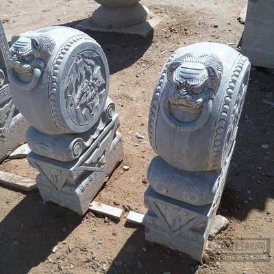 供应青石石雕门墩抱鼓石