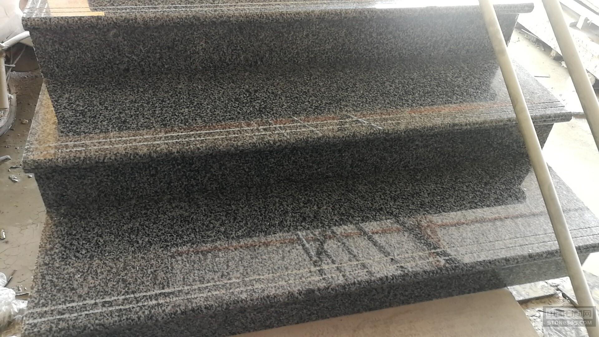 吉林芝麻黑楼梯踏步工程案例