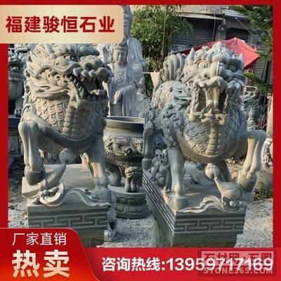 石麒麟生產加工 動物石雕像