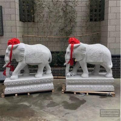 汉白玉镇宅转运门口大象