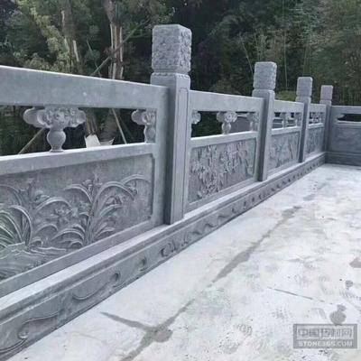黑青石雕刻栏杆