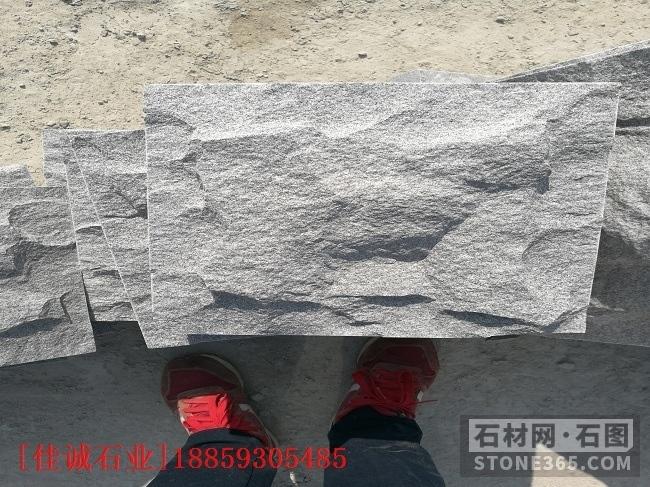 湖北罗田芝麻灰蘑菇石自然面生产