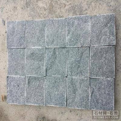 芝麻黑彈石廣場地面小方塊石材