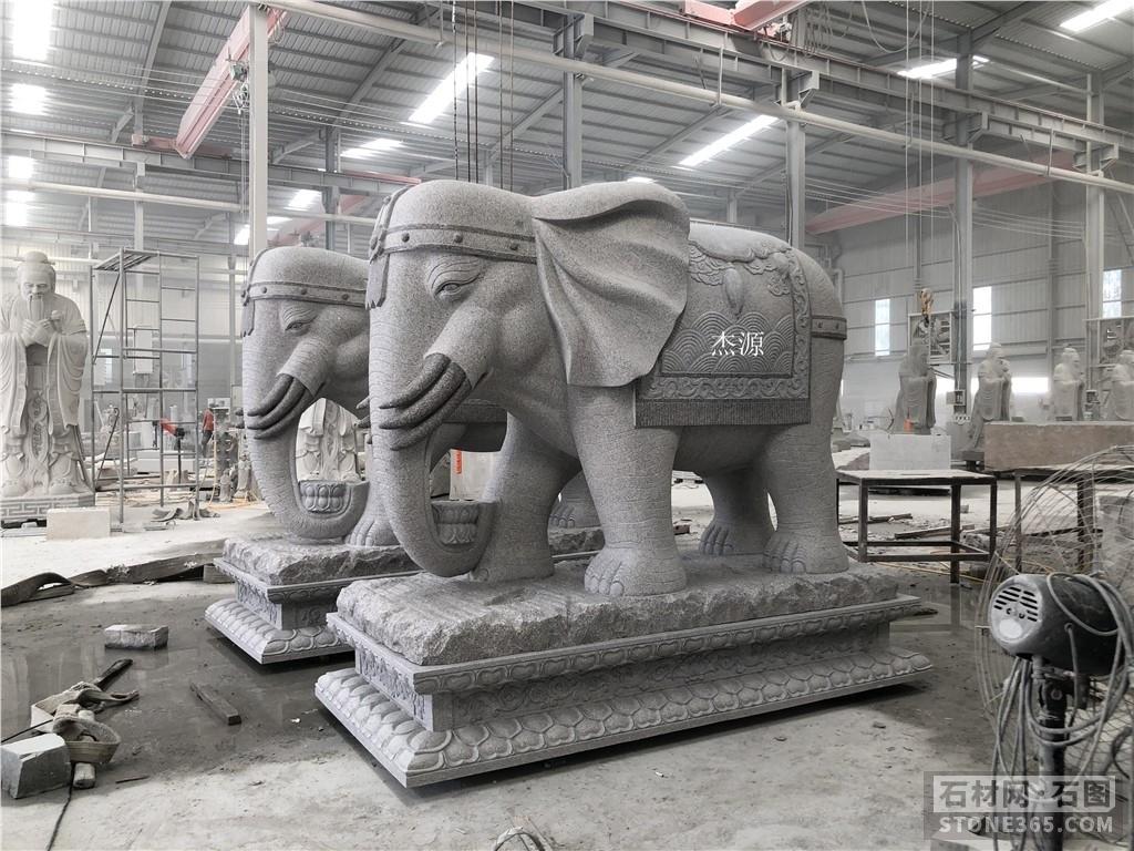 石雕大象、石雕六牙象、石雕