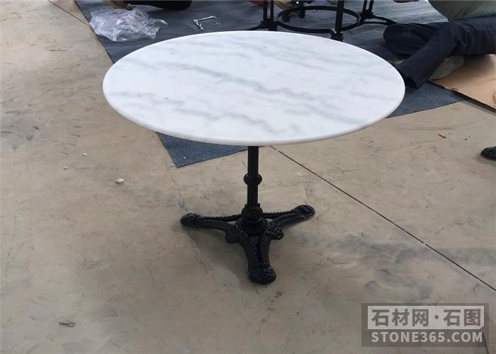 提供广西白大理石圆桌可定规格