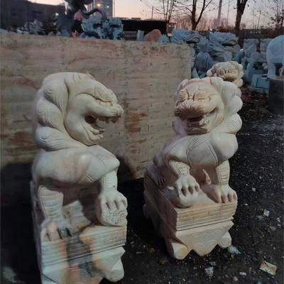 汉白玉石狮子定制各种尺寸造型