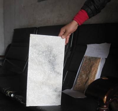供应河南雪花白天然白蘑菇石