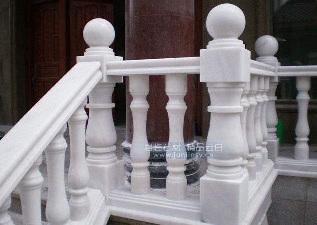 别墅阳台汉白玉栏杆楼梯扶手 广西白石材栏杆柱子.圆柱.罗马柱.花瓶柱.宝瓶柱.石材扶栏扶手 厂家定做