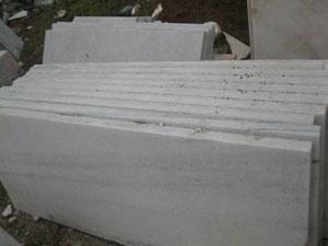 河南雪花白大理石墓碑半成品