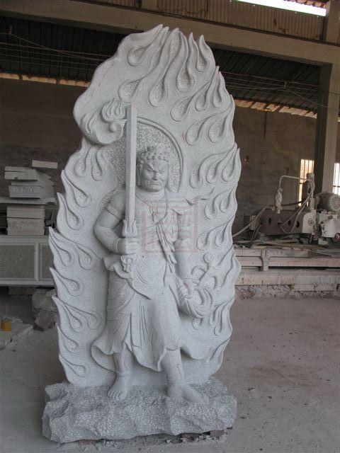 石材雕刻不动明王