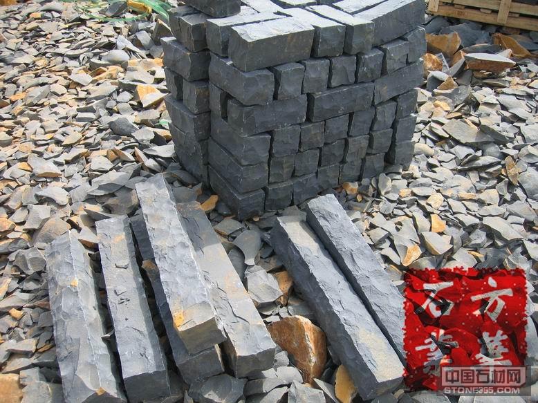 手工全自然黑色玄武岩柱
