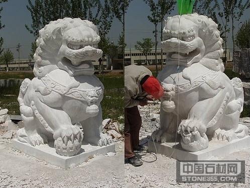 大理石汉白玉石狮子雕刻