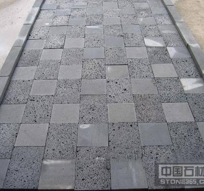海南黑和黑洞石地铺板
