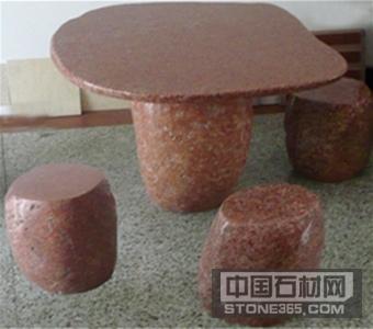 四川红异型桌子凳子