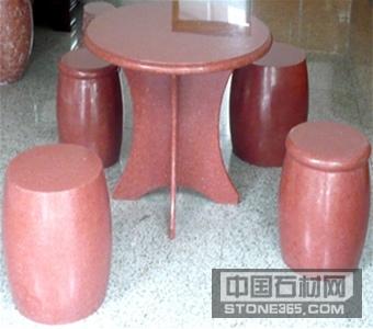 四川三合红异型桌子凳子