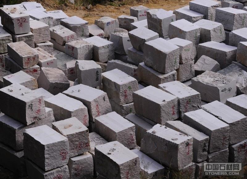 潮州红花岗岩荒料堆场