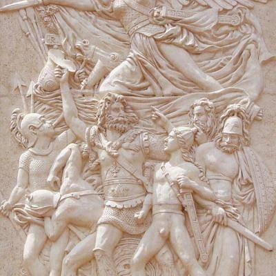 山西米白砂岩浮雕