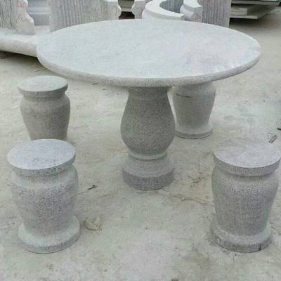 河南芝麻白圆桌圆凳