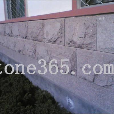 镇政府墙壁蘑菇石