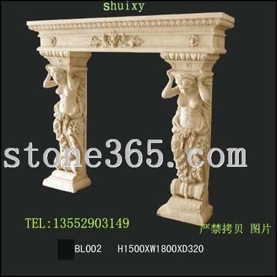 shuixy砂岩壁炉雕塑