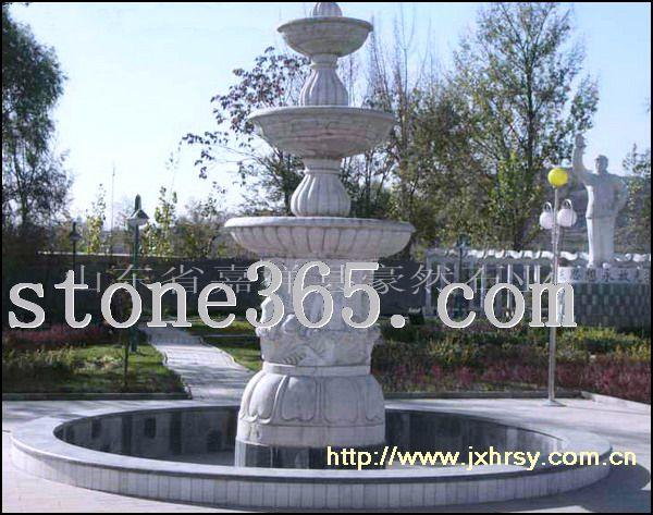 青石多层喷泉雕刻