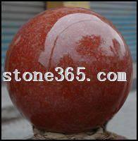 中国红花岗石风水球