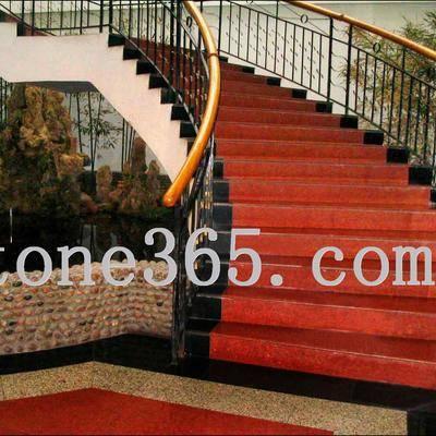 中国红花岗石荒料及板材