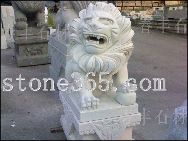 汉白玉狮子-大理石