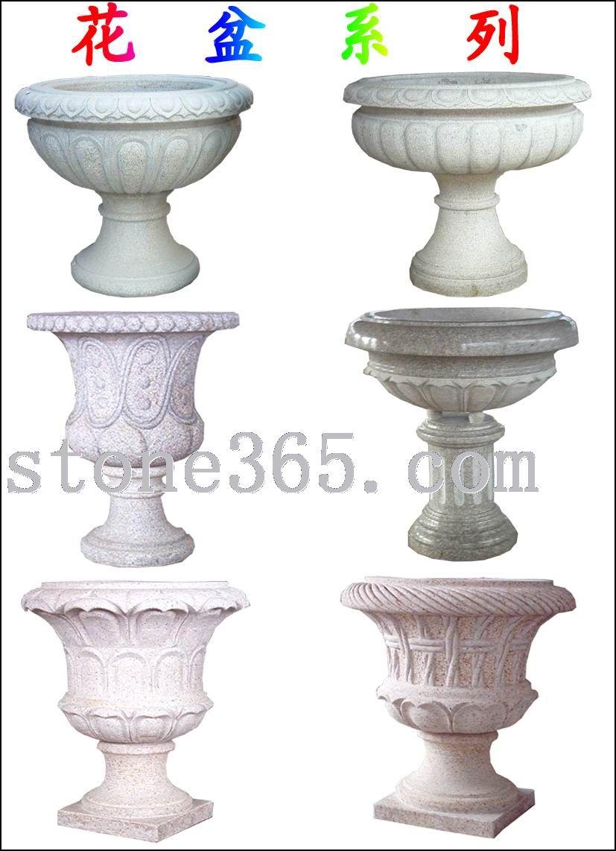 供应石雕花盆、大理石花盆、石盆
