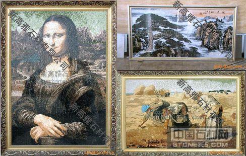 纯天然大理石 马赛克 风景油画